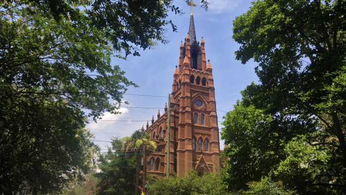 The cornerstone for the Cathedral of St. John the Baptist on Broad Street was laid in 1890, but the construction of the church was not completed until 2010 -- when the steeple was finally added.