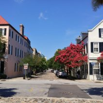 Chalmers Street is one of the eight cobblestone streets in Charleston. The combination of gorgeous old buildings, crepe myrtle trees and the cobblestones make it one of the most photographed in the city.