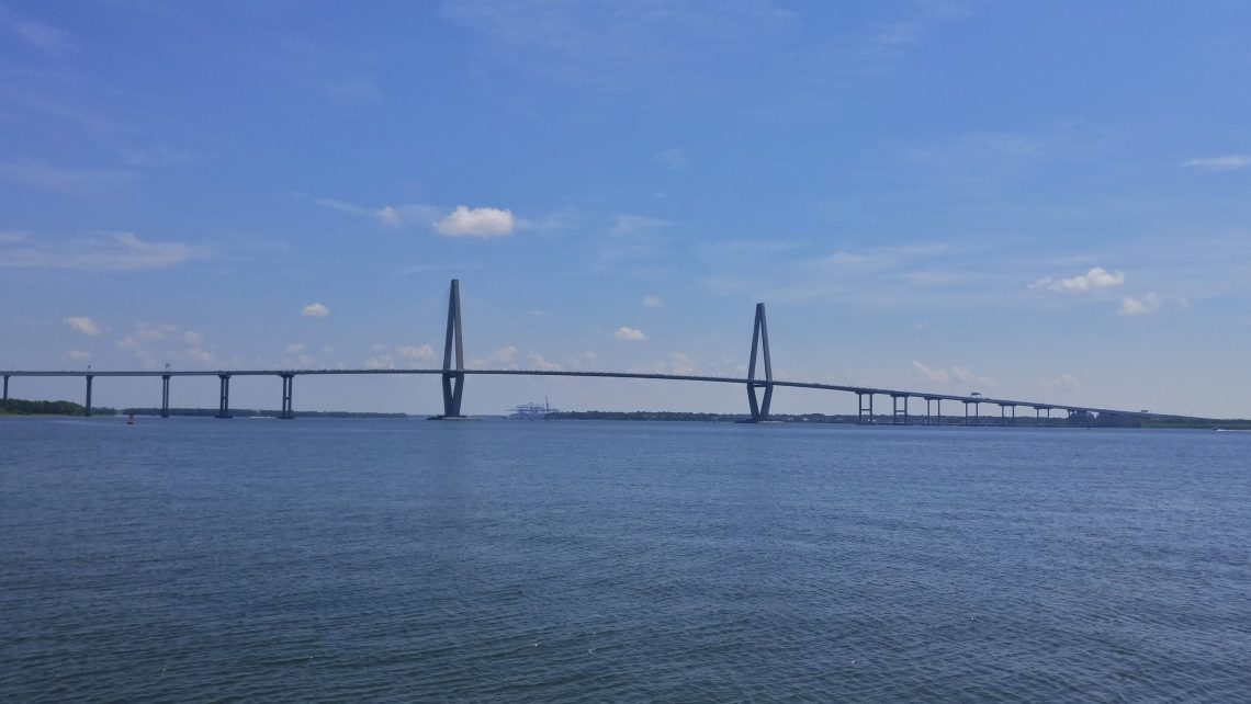 The Arthur Ravenel, Jr. Bridge links Charleston to Mt. Pleasant. Many people who have lived in Charleston prior to its construction just call it the Cooper River Bridge, as its predecessors were referred to. Whatever you want to call it, it's spectacular.