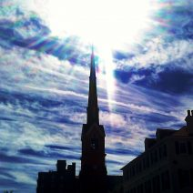 Since Charleston is going to totally dark this afternoon with the totality of the solar eclipse, here's a reminder of what the sun looks like in Charleston.