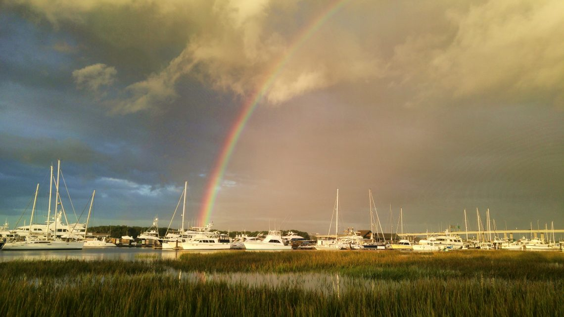 A gorgeous morning view at the City Marina on Lockwood Boulevard. Not a bad thing to find at the end of the rainbow.