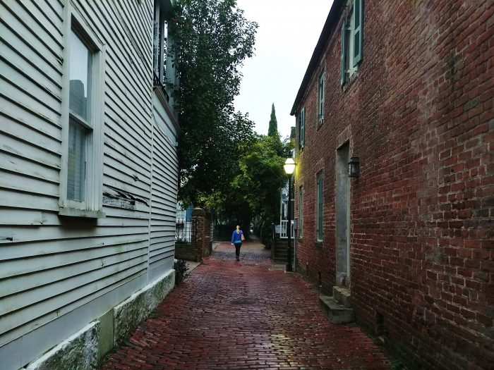 One of the charms of Charleston are the little alleys that intersect the historic peninsula. Here Stoll's Alley is a quick and beautiful cut-through from Church Street to East Bay.