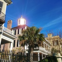 The Colonel John Ashe House is one of the most beautiful on South Battery. Here the sun helps it turn into a wondrous lighthouse.