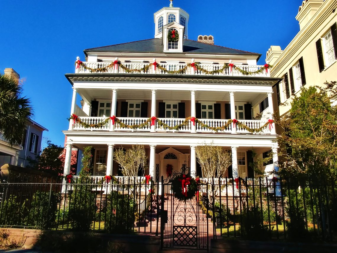 Charleston dresses up nicely during the holidays.