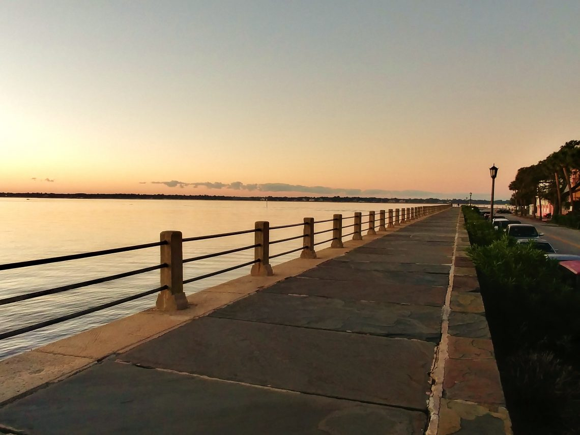 The High Battery is one of the most visited spots in Charleston, and a wonderful place to greet the dawn. While the tip of the peninsula had always been a well used place, a formal promenade was not built until 1838. It's a treat to walk or run on every time.