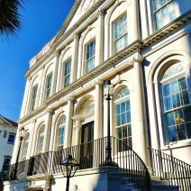 This elegant Adamesque style building began its life as one of the original branches of The First Bank of the United States. Since 1818 it has served as Charleston City Hall. The interior, particularly Council Chambers, is spectacular and worth a visit.