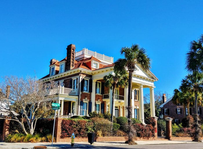 This spectacular house on Murray Boulevard was built by C. Bissell Jenkins, the originator of the project that reclaimed the land that the Low Battery now sits on. Appropriately, it was the very first house built on the newly created boulevard.