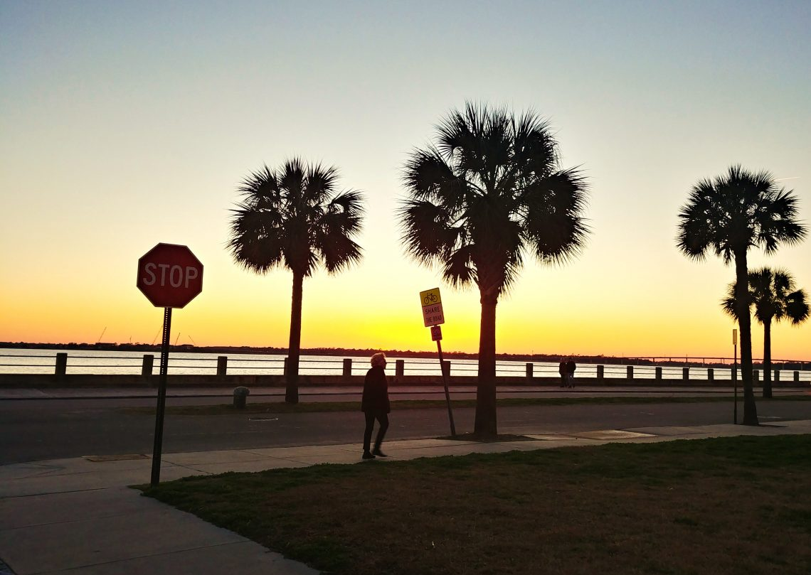 Walking along the Low Battery while the sun is setting is a wonderful way to wrap up a Charleston day.