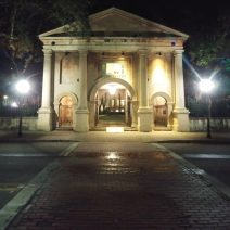 """The Porter's Lodge at the College of Charleston is one of the most visible buildings on campus. It's a prime access point to the Cistern and bears an inscription in Greek that provides some pretty good advice, and not just for students -- """"Know Thyself."""""""