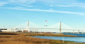 The beautiful Cooper River Bridge (ok, the Ravenel Bridge). When it opened in 2005, it actually replaced two rickety, intimidating spans -- the John P. Grace Memorial Bridge (which opened in 1929) and the Silas N. Pearman Bridge (which opened in 1966).  It is currently the third longest cable-stayed suspension bridge in the Western Hemisphere.