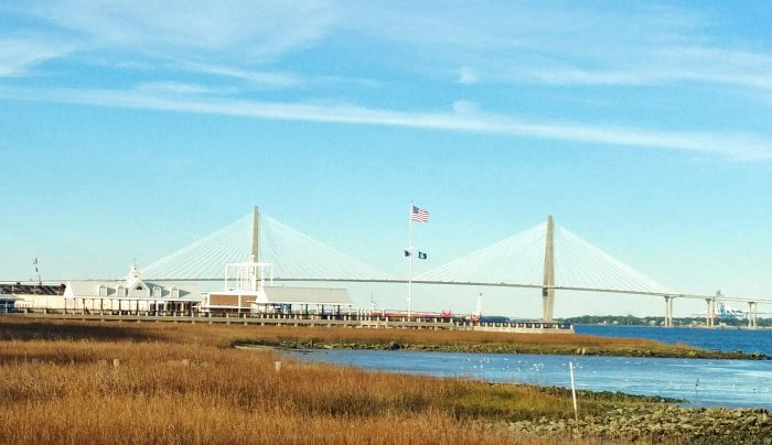 The beautiful Cooper River Bridge (ok, the Ravenel Bridge). When it opened in 2005, it actually replaced two rickety, intimidating spans -- theJohn P. Grace Memorial Bridge(which opened in 1929) and theSilas N. Pearman Bridge(which opened in 1966). It is currently the third longest cable-stayed suspension bridge in the Western Hemisphere.