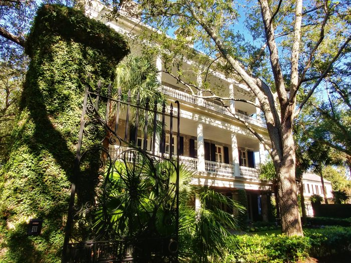This beautiful antebellum house (circa 1857) on Legare Street is located on land that was originally part of the property of the pre-revolutionary era Miles Brewton House (one of the most significant Georgian houses in the United States). If you are going to live in a subdivision in downtown Charleston, this looks like a good way to go!