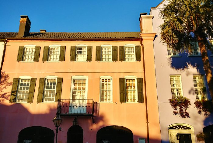 This house on East Bay Street holds a very special distinction on Rainbow Row -- it was the very first to be restored on the row (which is the largest collection of attached antebellum houses in the United States).