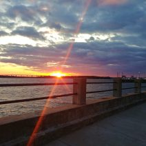 A beautiful sunset as seen beyond the Ashley River from the Low Battery. According to Charleston lore, the Ashley River and the Cooper River flow together to form the mighty Atlantic Ocean. Any arguments?