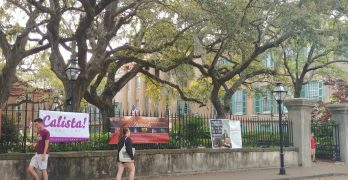 Wasn't the original color of the College of Charleston a mixture of cows blood and white paint…