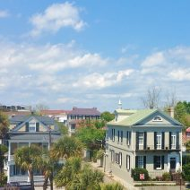 With some beautiful South Battery houses in the front, this view up King Street and across the rooftops is just classic Charleston.