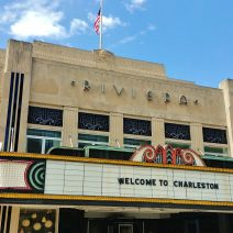 Charlestonians are so polite -- even the buildings. The Riviera Theater was Charleston's first motion picture theater. Open to the public on January 28, 1939, the premier featured Secrets of a Nurse. Have you seen it?