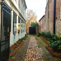 There is so much to see in downtown Charleston that even a peek down a driveway reveals the beauty of the City. This wonderful little driveway and house can be found on Church Street, between Broad and Tradd Streets.