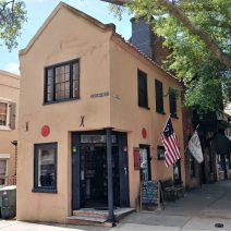 This very colonial (circa 1686) little building, at the corner of East Bay and Exchange Street, is the oldest liquor store in the United States. Pretty cool.