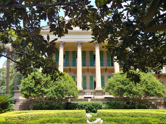 The beautiful Isaac Jenkins Mikell House (circa 1853) is well known for a variety of reasons (including that it was the public library for many years and more recently has been on the TV show Southern Charm). Its Corinthian columns capitals are carved from cypress wood and are ornamented with rams heads. No bull.