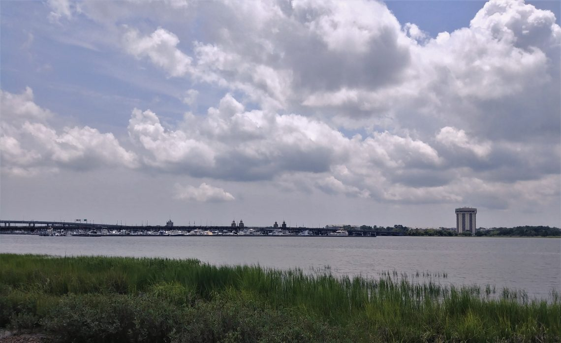 Brittlebank Park is one of the great public spaces in Charleston. With wonderful views of the Ashley River, it's a nice spot to bring the kids (it has a really good playground), go fishing (there's a pier) or just sit and look at the beauty.