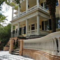 This beautiful house on Montegu Street played host to General Robert E. Lee when he visited Charleston after the Civil War. He addressed some of the citizens of Charleston from the second floor balcony.