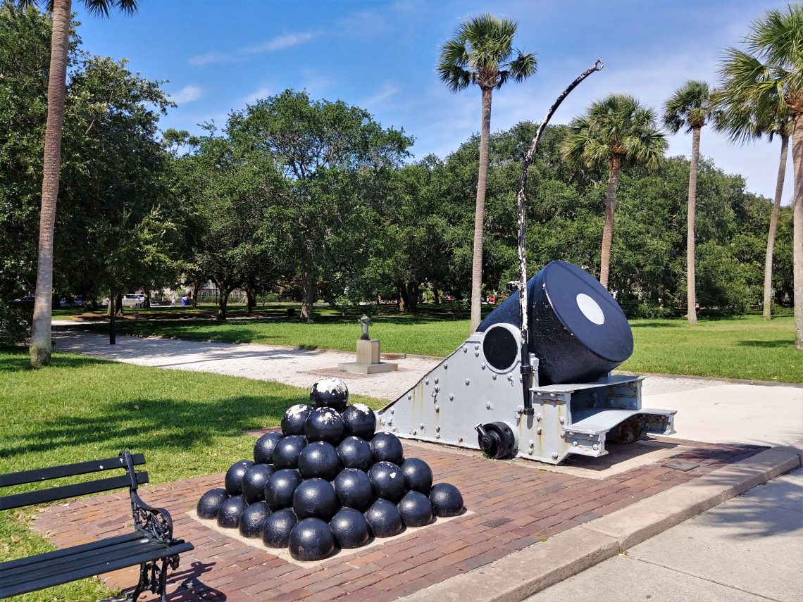 White Point Garden is full of beauty and some pretty interesting historical artifacts -- which are cool to see and often fun to climb on. Used by Union troops as part of the bombardment of Fort Sumter during the Civil War, this mortar now leads a much calmer life.