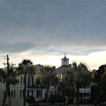 A threatening sky over South Battery and King Street in Charleston. Some classic beauty.