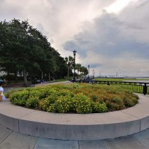This well situated flowerbed can be found in Joe Riley Waterfront Park, which has been renamed to honor the wonderful Joseph P. Riley Jr. -- long time mayor of Charleston.
