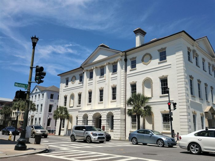 Built c. 1792, the gorgeous Charleston County Courthouse not only hosted George Washington, it was likely used as a model for the White House. It's architect, James Hoban, designed both.