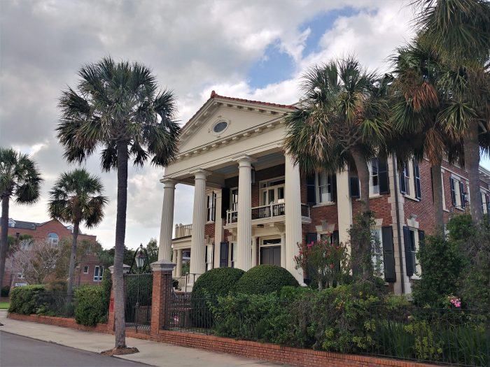 After the landfill project that created the Low Battery and Murray Boulevard, this was the very first house built on the new Charleston land-- aptly for the originator of the project.