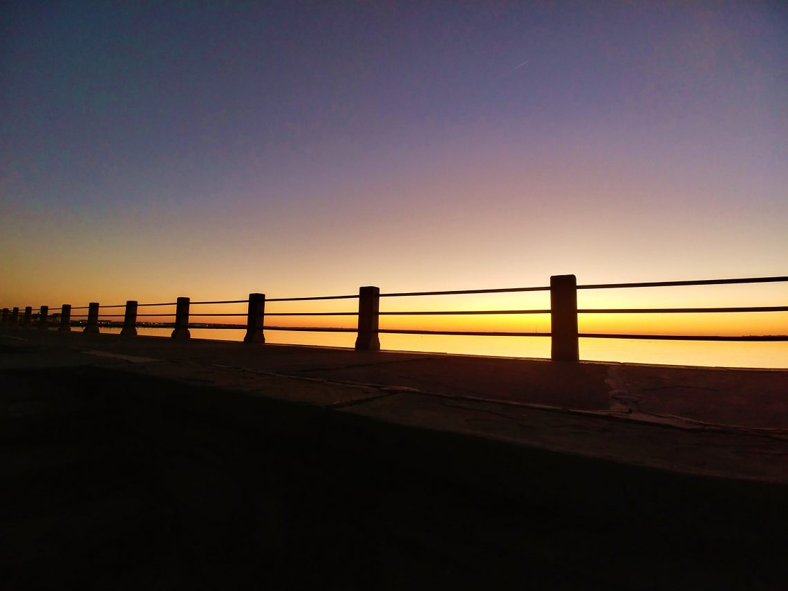 Sunrise along the High Battery in Charleston. It's a beautiful view if you are driving up East Battery.