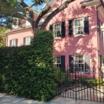 This pretty pink house on King Street is just steps from White Point Garden and the Battery.