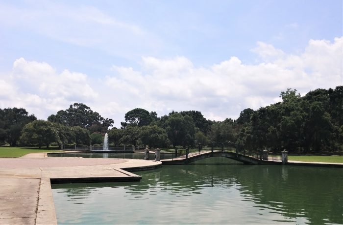 This pretty lake and fountain are in Hampton Park, one of the largest public parks in Charleston.