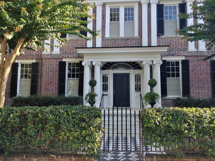 A beautiful Colonial Revival style house on Lamboll Street, which was built circa 1912 by the editor of the Evening Post newspaper. Love the checkerboard.