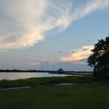 This beautiful view is from Brittlebank Park along the Ashley River in downtown Charleston.