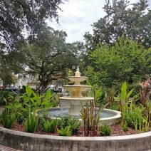 One of the smallest parks in Charleston, Allan Park is on land that was donated to the city by Mrs. Amey Allan -- the widow of James Allan who developed most of the eastern half of Hampton Park Terrace.