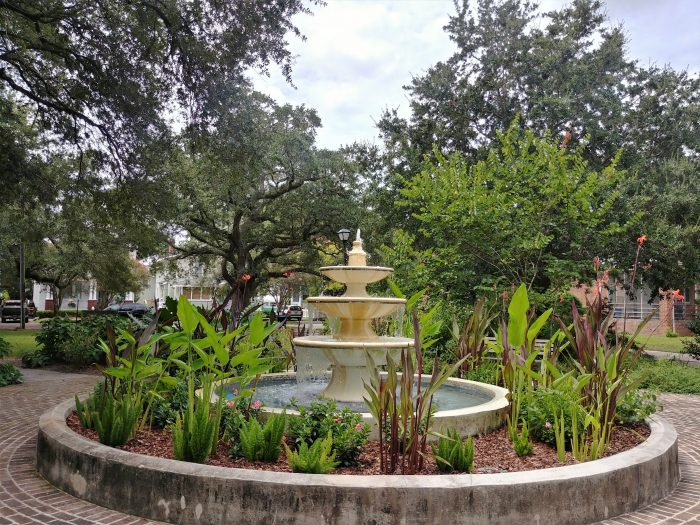 One of the smallest parks in Charleston, Allan Park is on land that was donated to the city byMrs. Amey Allan -- the widow of James Allan who developed most of the eastern half ofHampton Park Terrace.