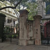 "These beautiful gates, and the rest, can be found on Legare Street. Legare, pronoucned ""Luh Gree,"" is home to some of the most memorable houses in Charleston."