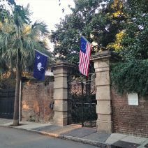 The famous Sword Gate on Legare Street always looks good, especially when framed by flags.