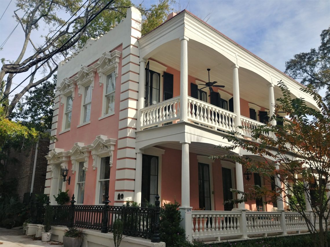 This pink house on Franklin Street is just above Broad Street, making it a SNOB.