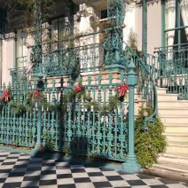 The John Rutledge House on Broad Street dresses up for the holidays.