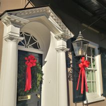 There is holiday beauty all over Charleston. This elegant scene can be found on East Bay Street.