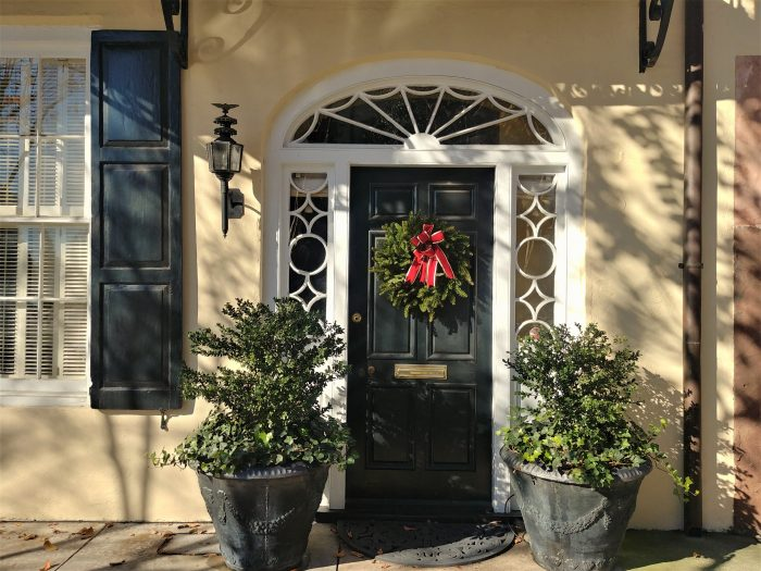 The house that this gorgeous Charleston doorway is in dates to Colonial times, but the door itself is a more recent addition. Located on Rainbow Row, as with most buildings on this stretch of East Bay Street, the first floor was originally used commercially (in this case as a counting house and then as a grain and feed store). In 1941, when Susan Pringle Frost -- the founder of the modern day preservation movement in Charleston -- restored the building she replaced the existing storefront with this door.