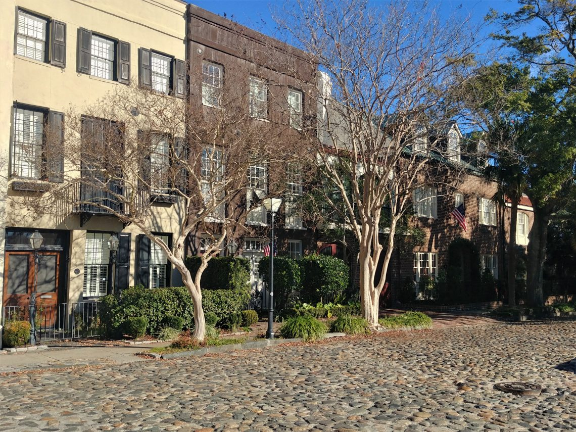 South Adgers Wharf is just one of the eight cobblestone streets actively in use in Charleston. Beautiful, yet super bumpy.
