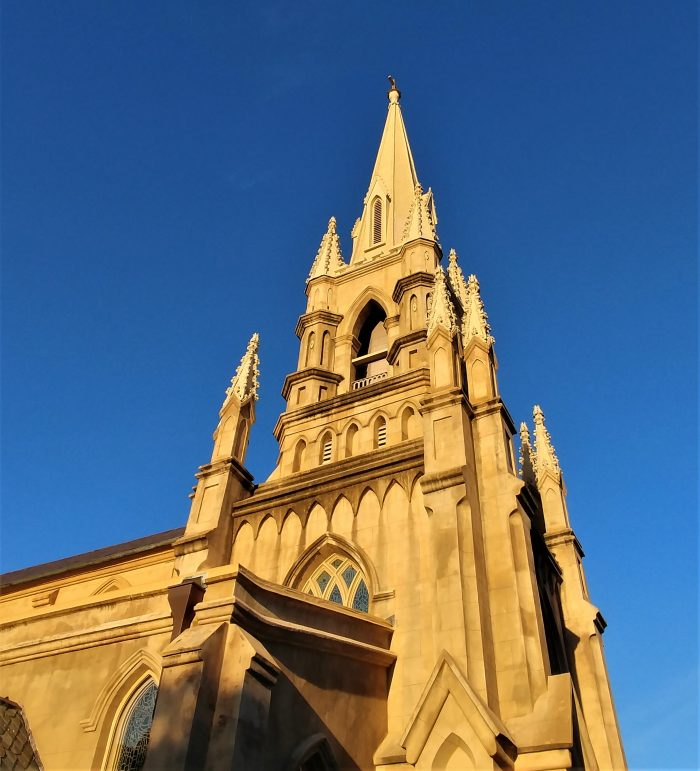 Grace Church Cathedral, located on Wentworth Street, is one of the most striking in Charleston. Designed by the famed architect, Edward Brickell White, it openedin 1848.