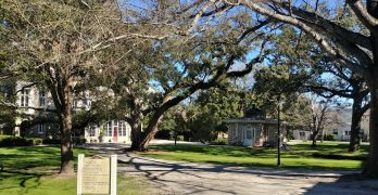 Ashley Hall, an all girls school which counts Barbara Bush among its alum, has a beautiful campus in downtown Charleston.