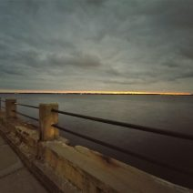 The evening sky, as seen from the Low Battery. The street that runs along here, Murray Boulevard, is named in honor Andrew B. Murray -- who, in the early 1900's, was one of the driving forces for the reclamation of the 47 acres of marsh and river that the street now sits on.