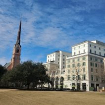 The Hotel Bennett, the newest hotel in Charleston opened last weekend, on the site of the old Charleston Public Library -- on the corner of Marion Square. A very high end hotel, it took 13 years for it to build.