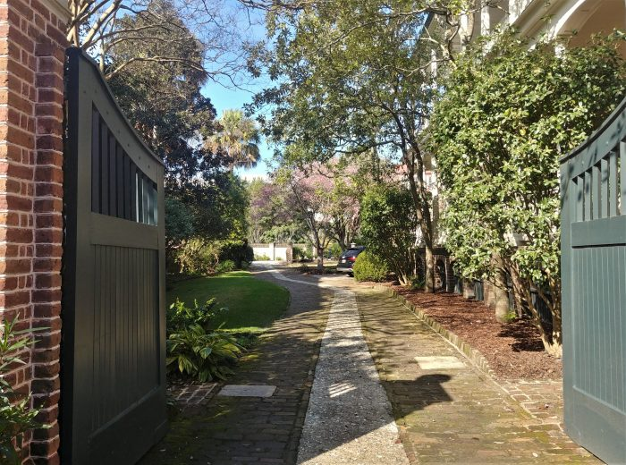 This beautiful driveway services a pre-Revolutionary house on Tradd Street(built in 1774), just across from First Scots Presbyterian Church.